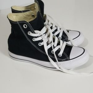 Black Converse All Star m4.5 w6.5 Sneakers Hi-Top